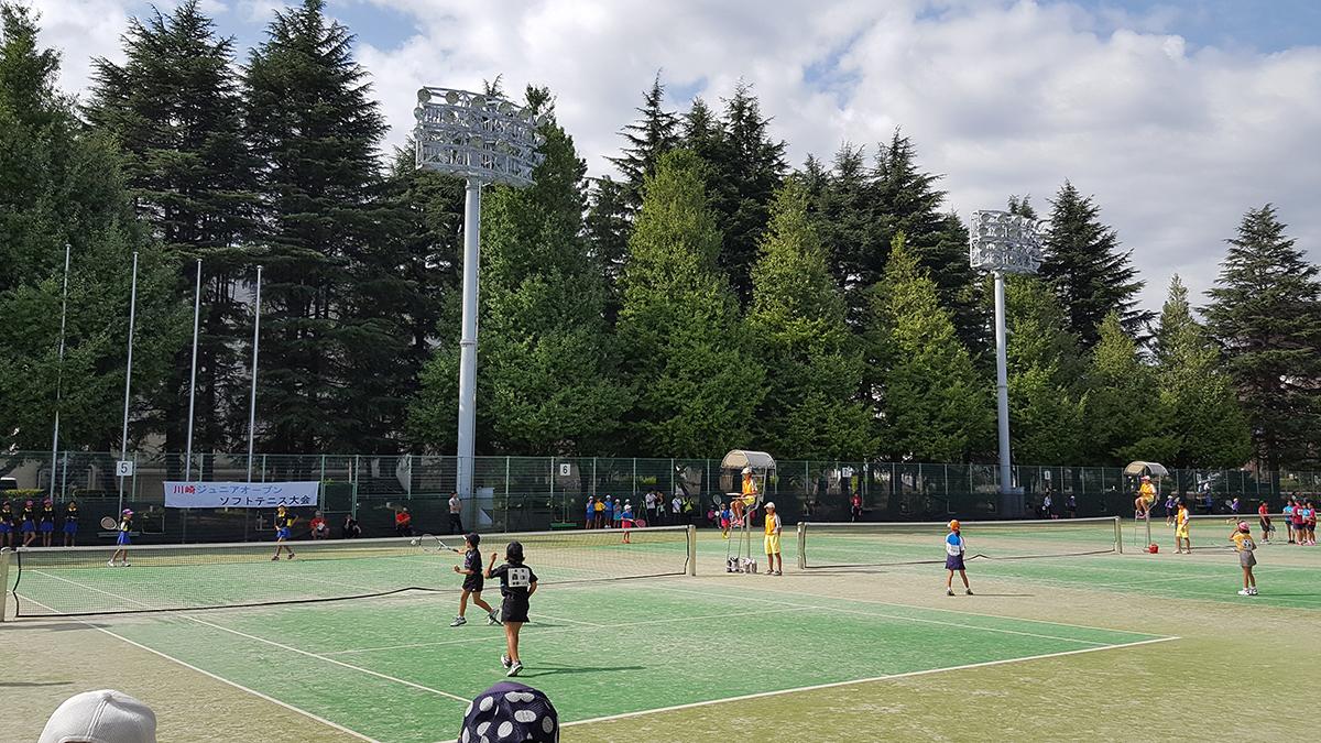 川崎ジュニアオープン,等々力テニスコート
