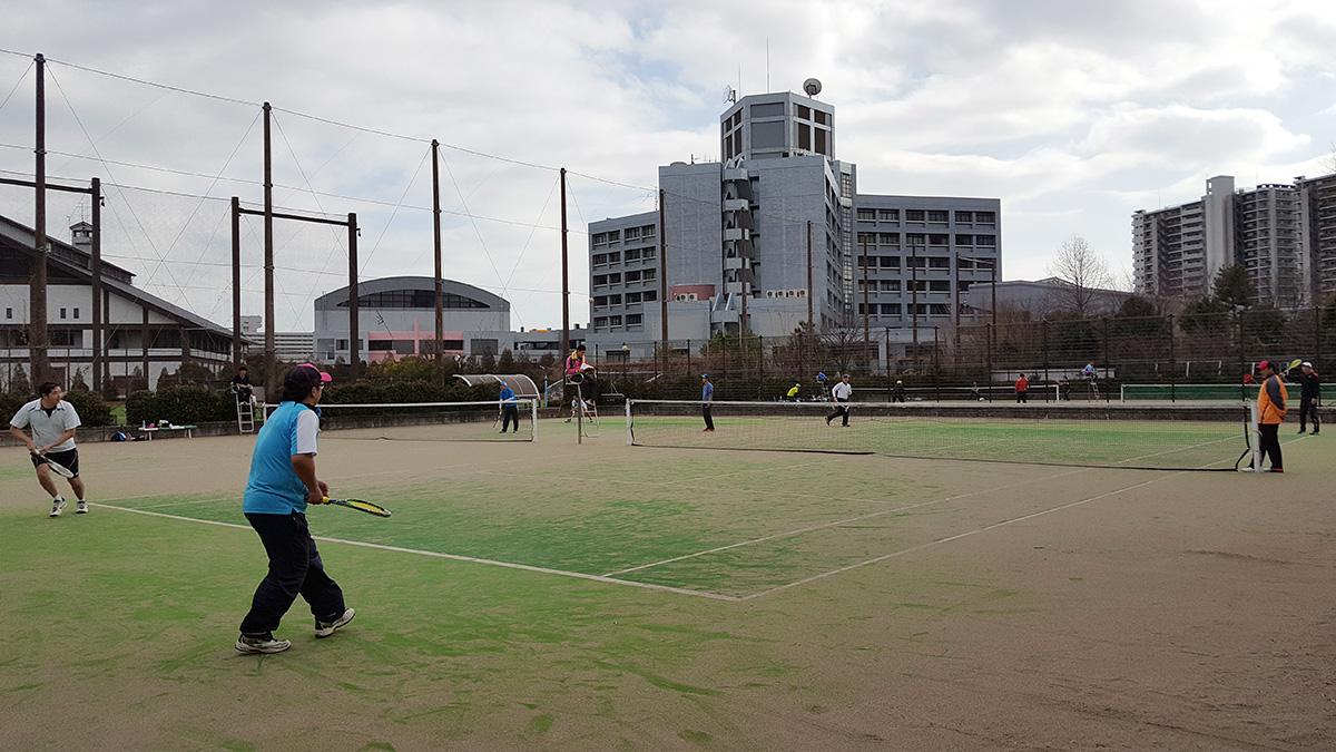 荒川区インビテーション関東成年ソフトテニス大会,都立産業技術高専テニスコート