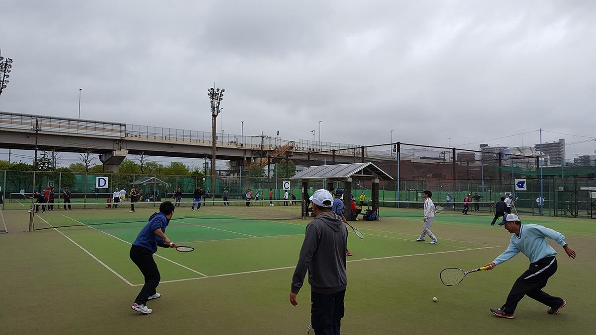 関東オープンソフトテニス大会,谷河内テニスコート