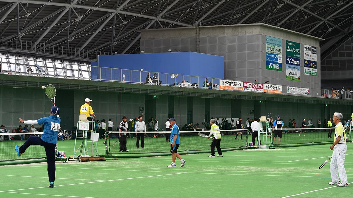 関東ソフトテニス選手権埼玉県予選会,くまがやドーム,シニア