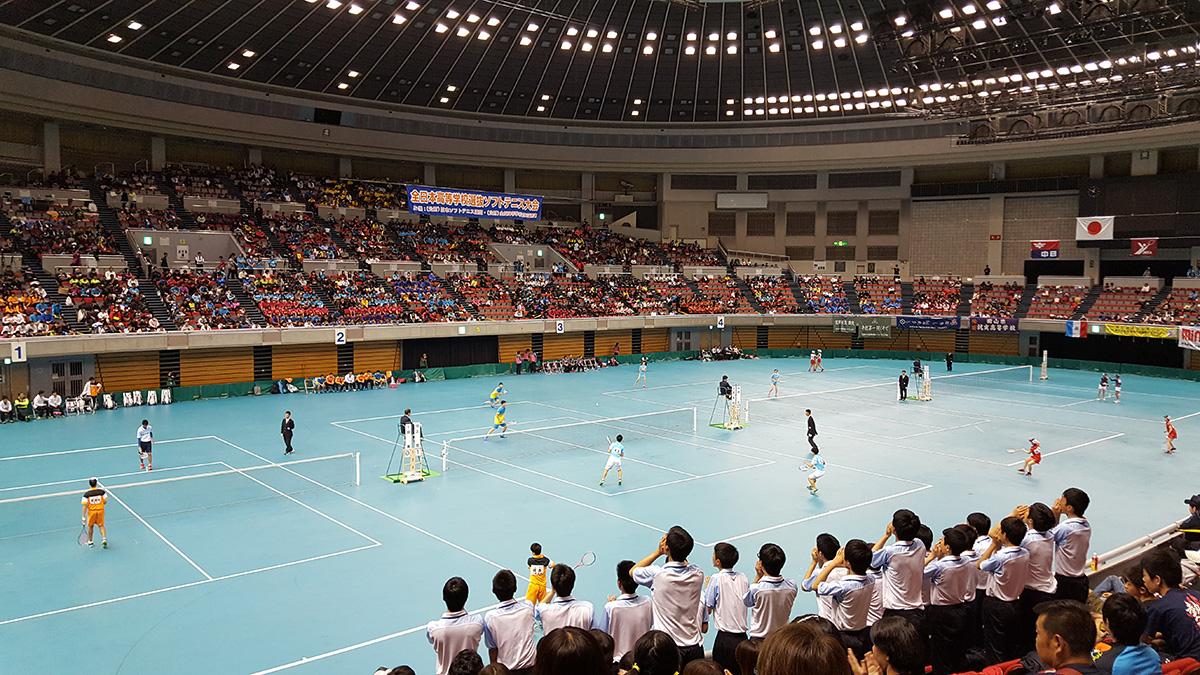 平成29年度(2018)全日本高等学校選抜ソフトテニス大会,春のセンバツ,日本ガイシスポーツプラザ