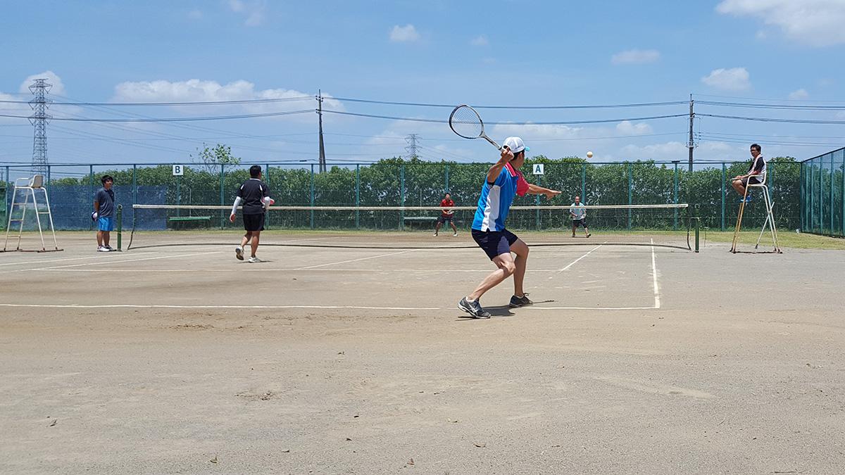 春日部市オープンソフトテニス大会,谷原中西側テニスコート