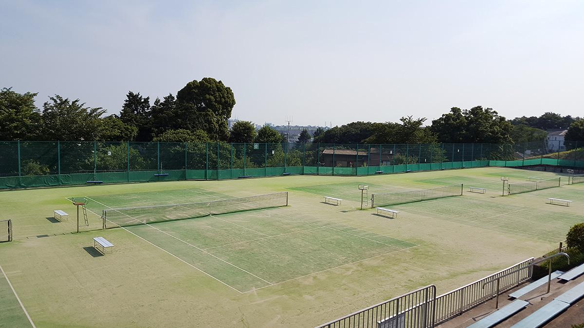 横浜市オープンソフトテニス大会,岡村公園