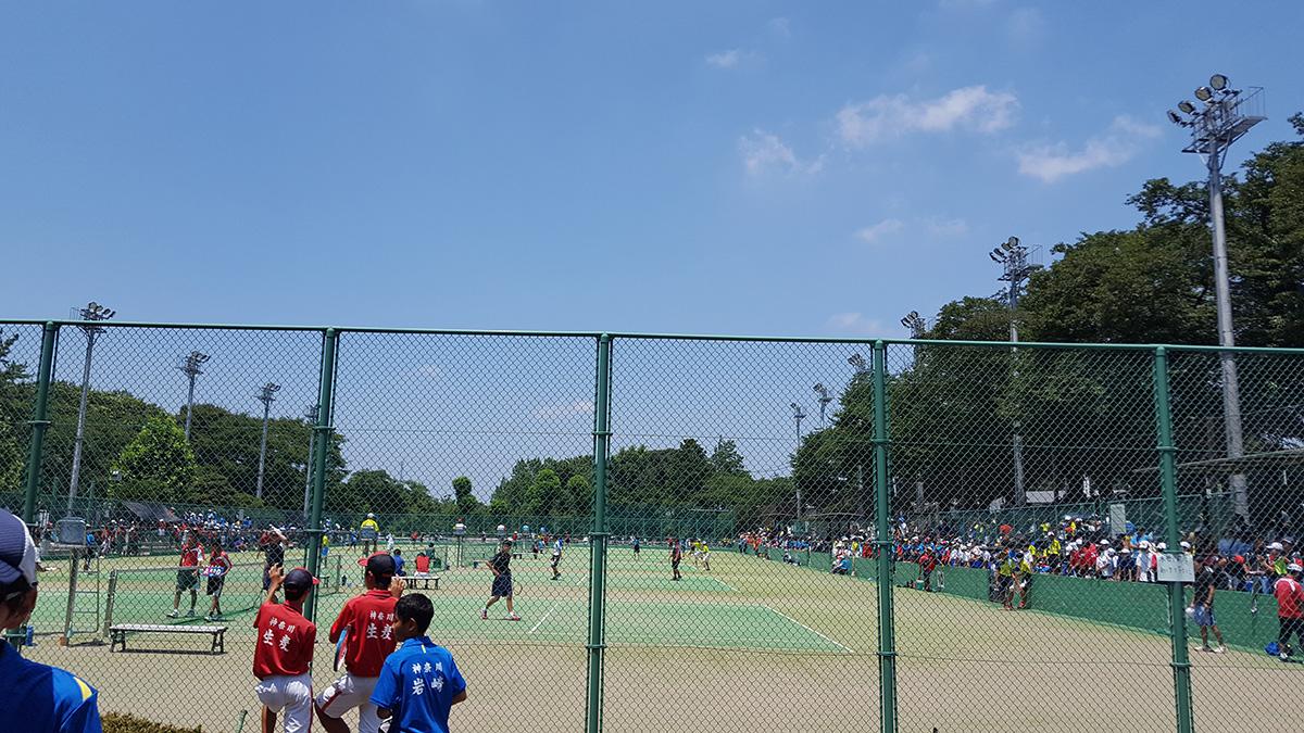 横浜市中学校ソフトテニス大会,横浜市三ツ沢公園テニスコート
