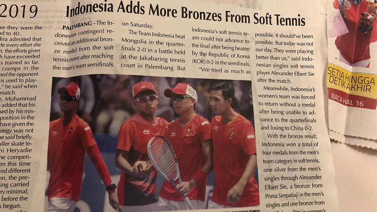 インドネシア代表,ソフトテニス,アジア競技大会,asian games2018