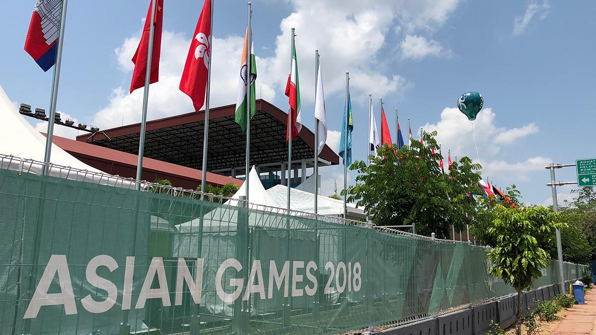 インドネシア パレンバン Jakabaring Sport Cityテニスコート