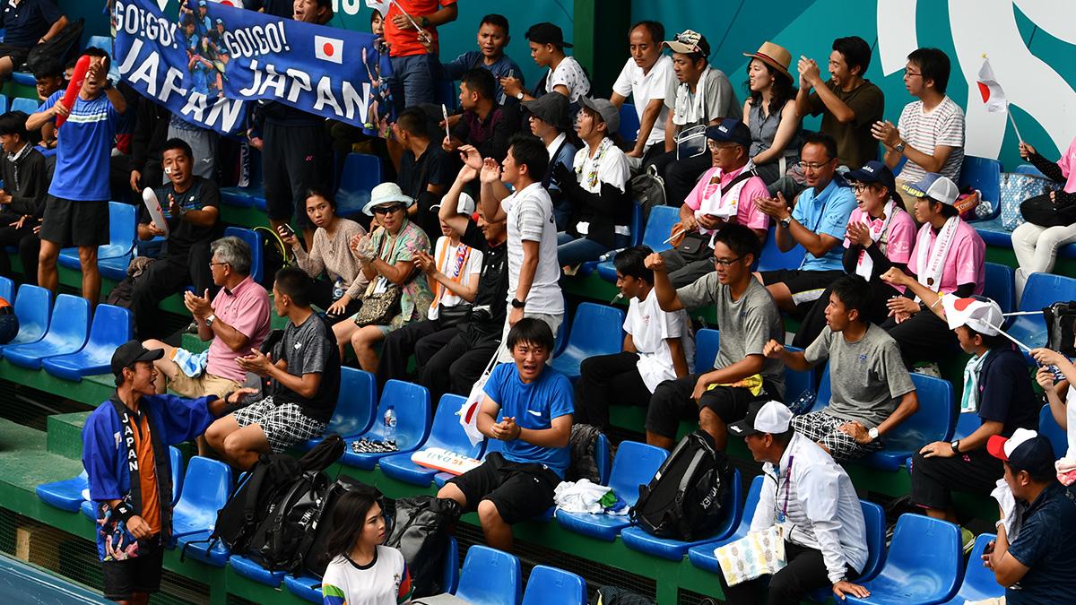 アジア競技大会ソフトテニス競技,asian games2018,国別対抗団体戦,応援団