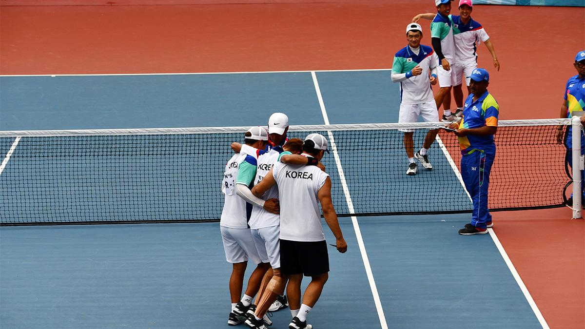 アジア競技大会ソフトテニス競技,asian games2018,国別対抗団体戦,韓国代表