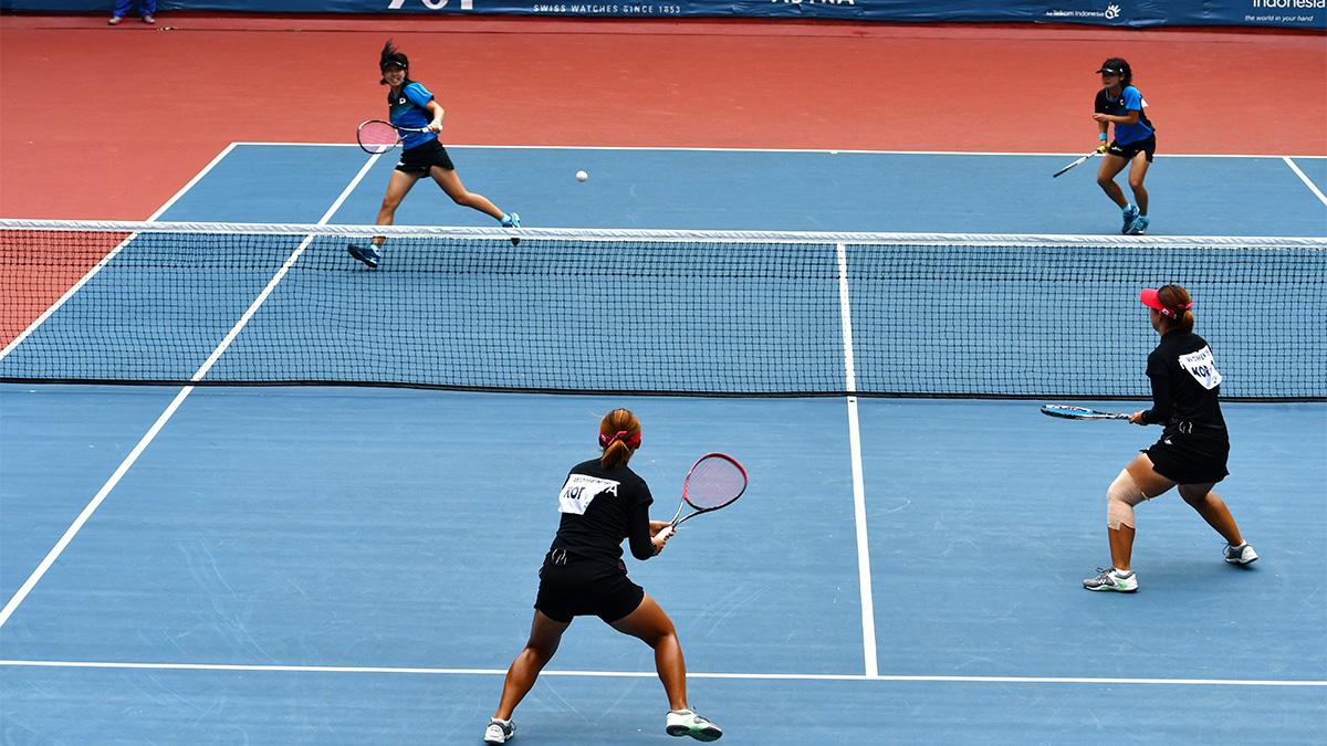 アジア競技大会ソフトテニス競技,asian games2018,国別対抗団体戦,日韓戦