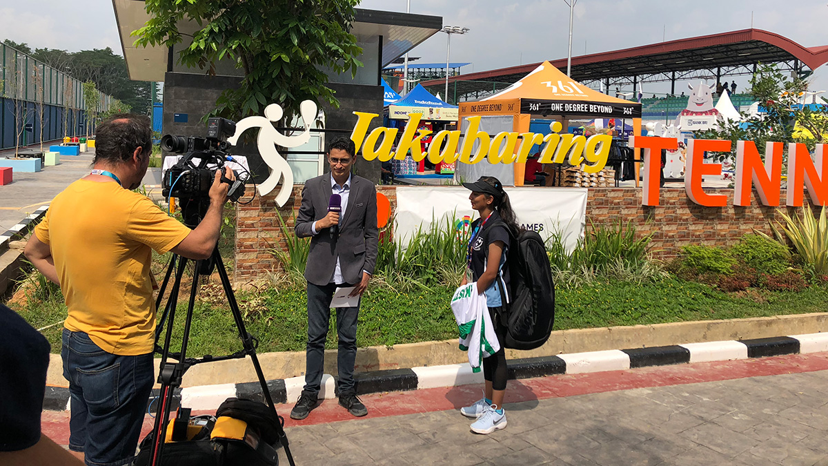 インドネシア パレンバン Jakabaring Sport Cityテニスコート,パキスタン代表