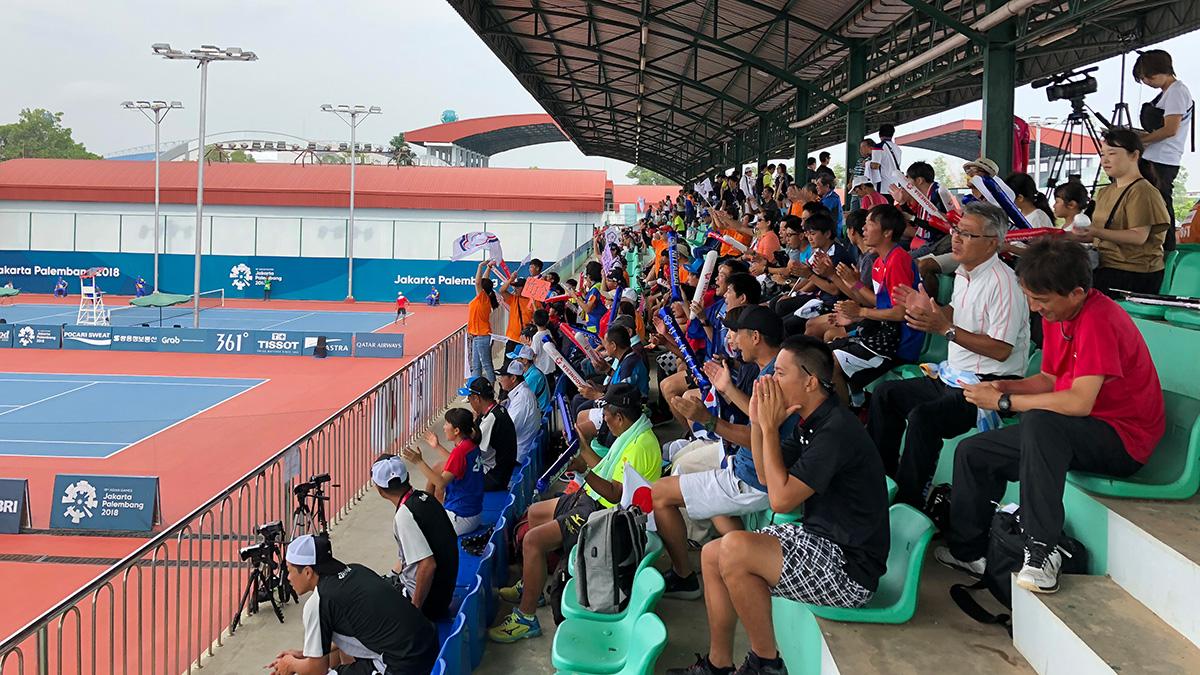 アジア競技大会ソフトテニス競技,asian games2018,応援