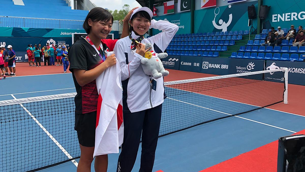 アジア競技大会ソフトテニス競技,日本代表,高橋乃綾,金メダル,半谷美咲
