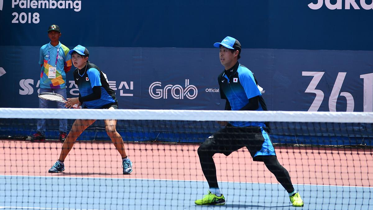 アジア競技大会ソフトテニス競技,asian games2018,林田リコ上松俊貴