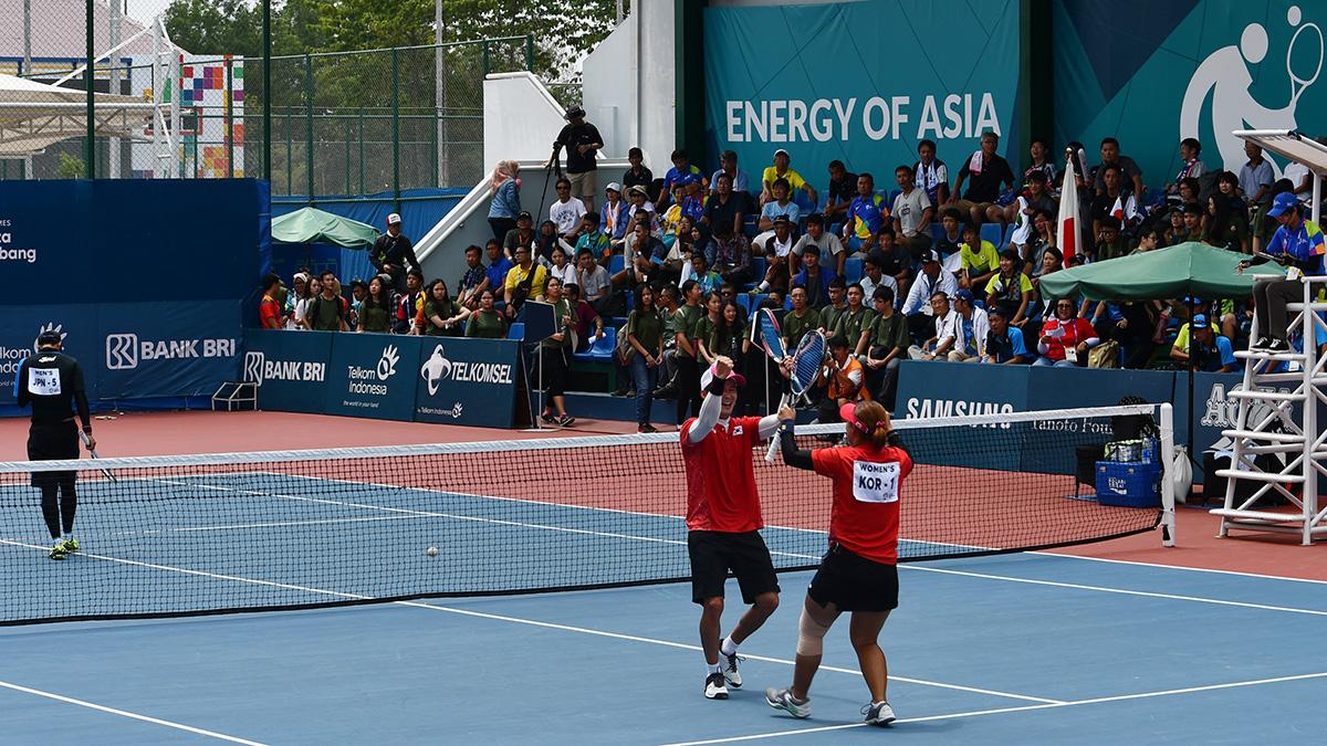 アジア競技大会ソフトテニス競技,asian games2018,ミックスダブルス,日韓戦