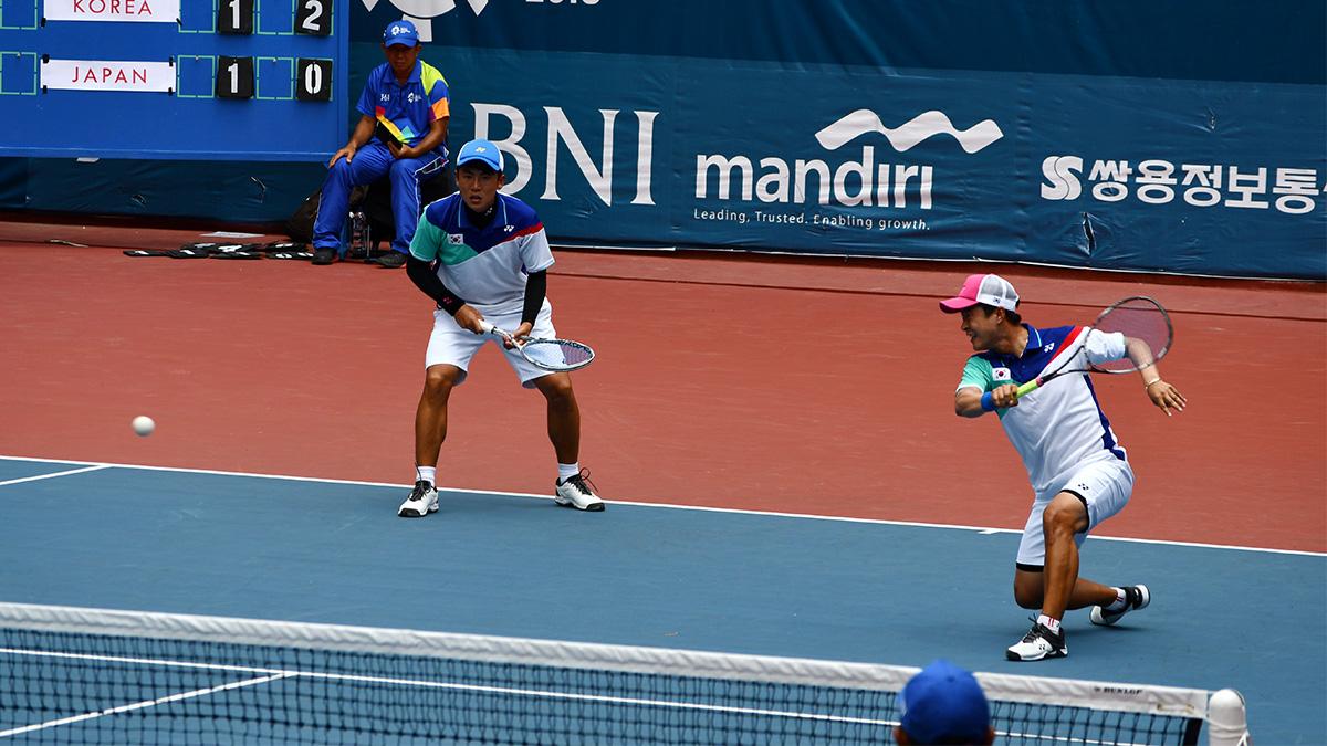 アジア競技大会ソフトテニス競技,asian games2018,キムドンフン・キムボムジュン