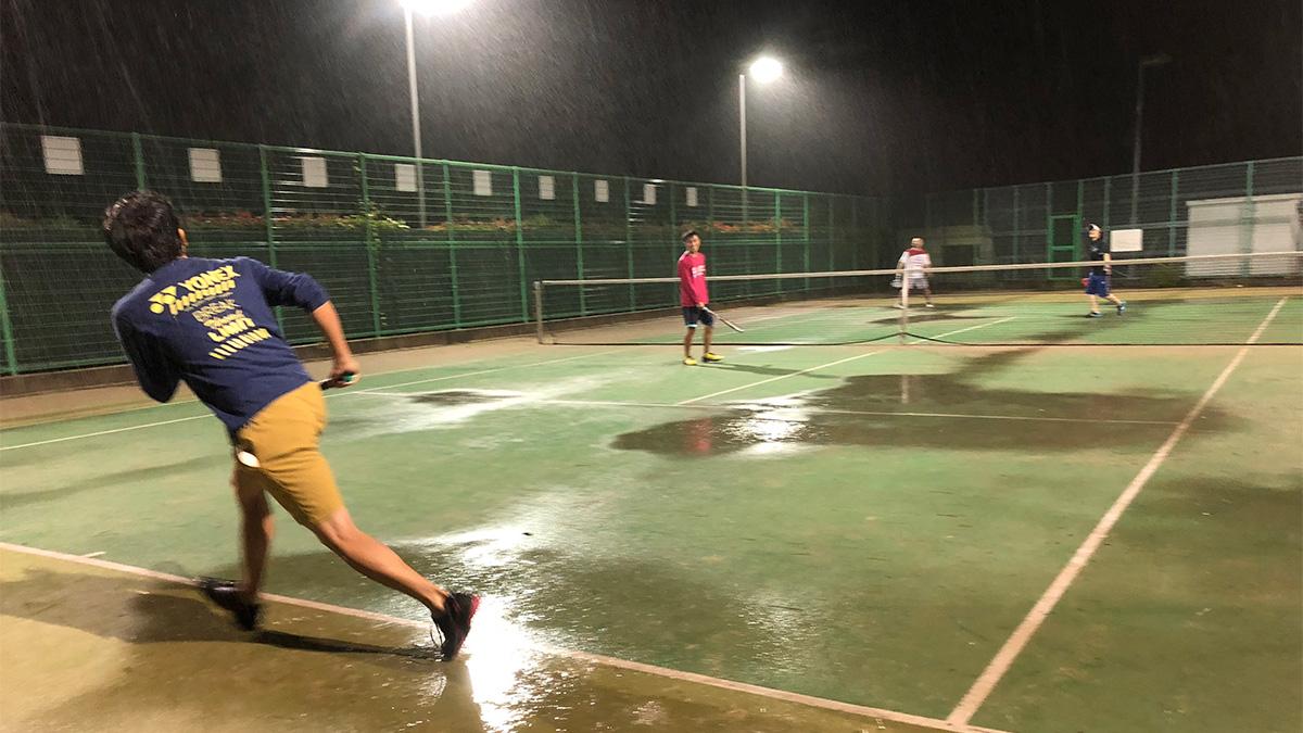 ソフトテニつ部合宿,ソフトテニス,ナイター練習