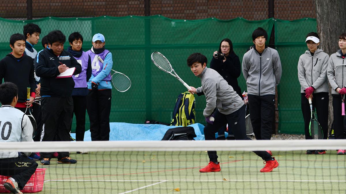 ソフトテニス講習会,早稲田大学,船水颯人