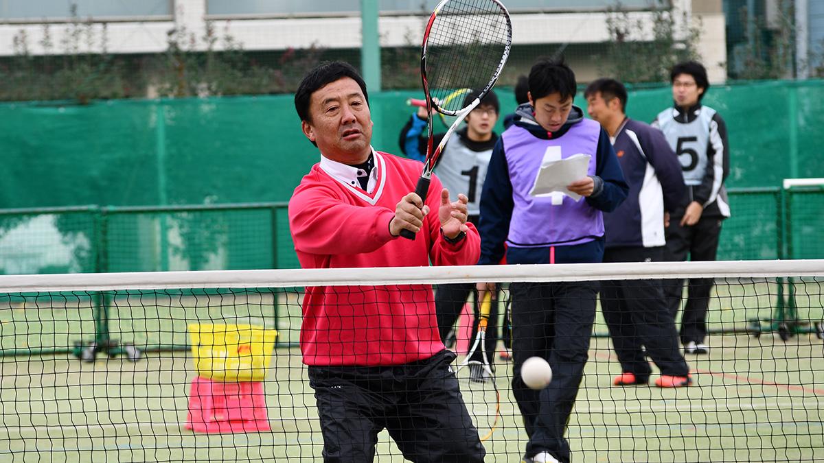 ソフトテニス講習会,早稲田大学,巣鴨商業,小野寺剛