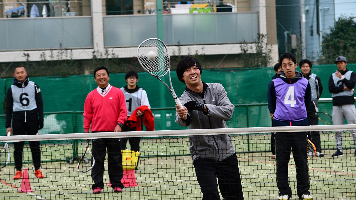 ソフトテニス講習会,早稲田大学,上松俊貴,小野寺剛