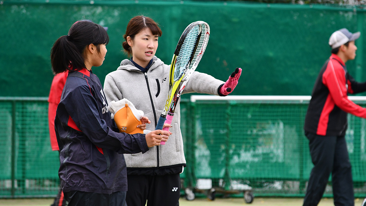 ソフトテニス講習会,早稲田大学,佐々木聖花