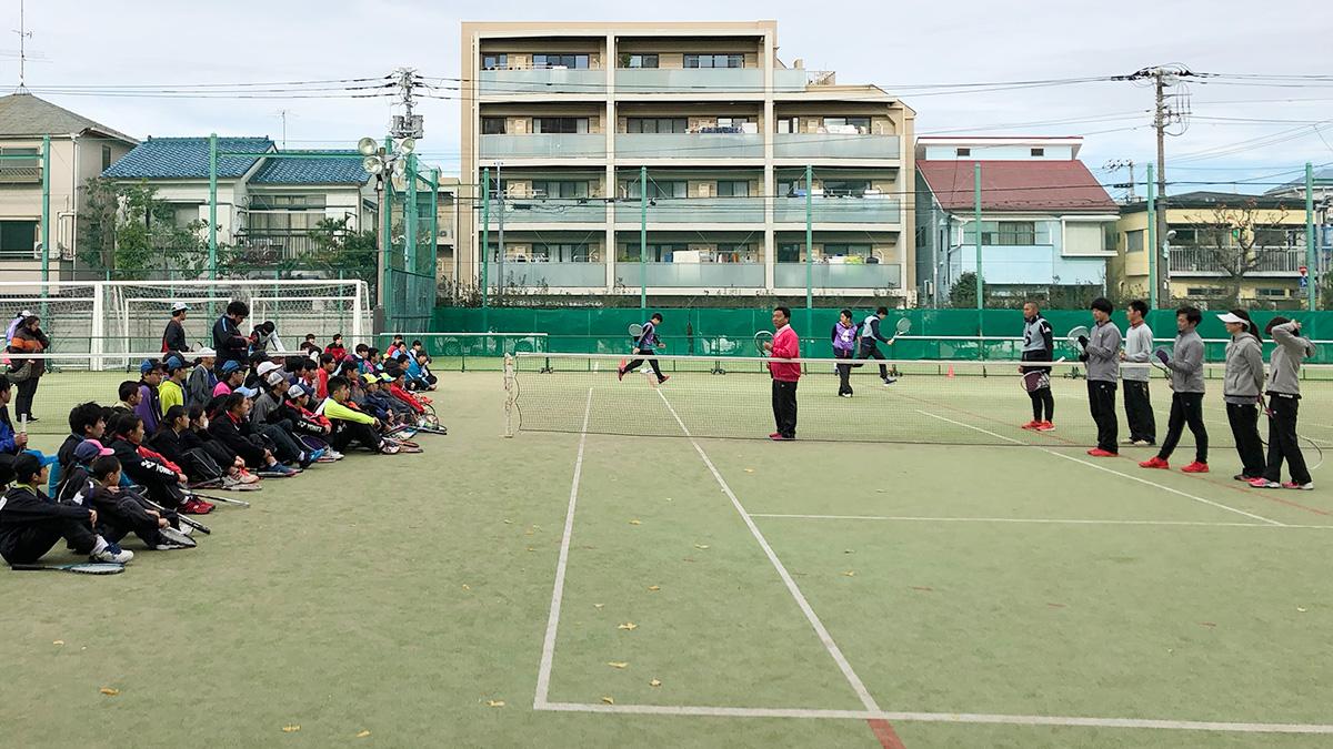 ソフトテニス講習会,早稲田大学,豊南高校