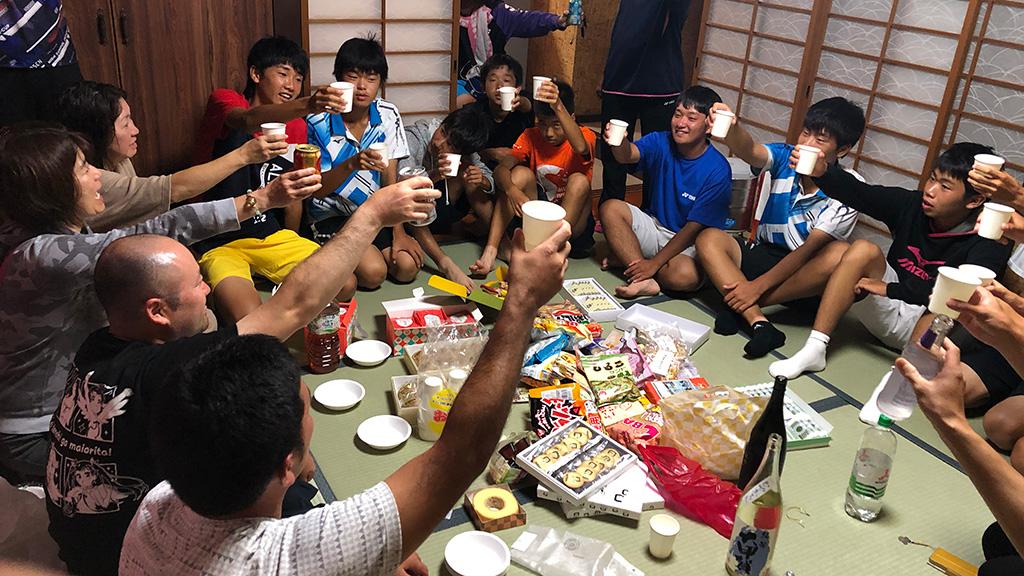ソフトテニス合宿,ソフトテニつ部,飲み会