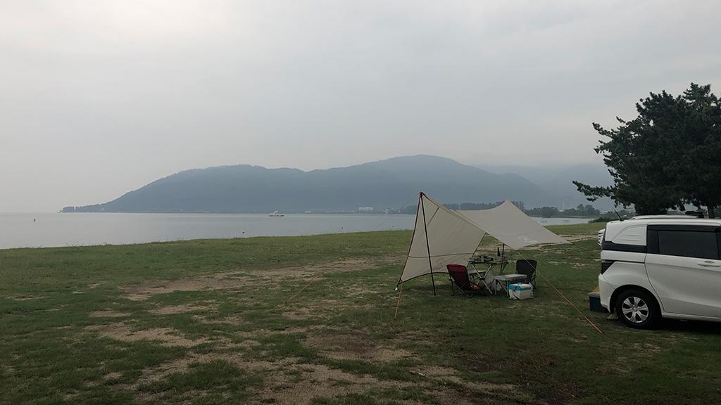 琵琶湖,白浜キャンプ場,キャンプ