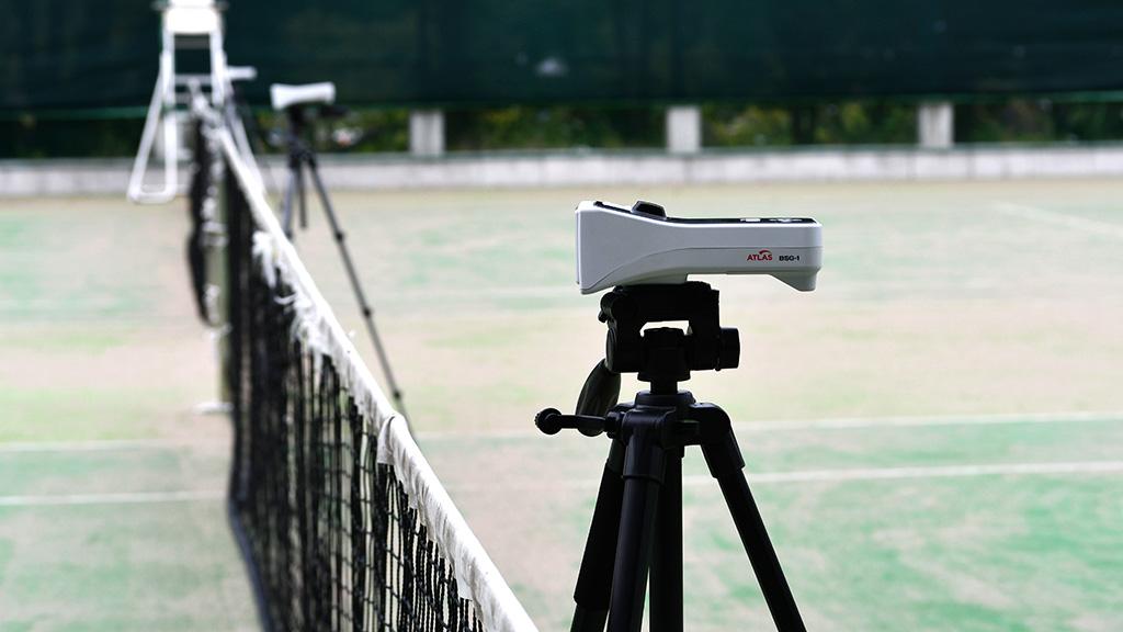 日本ソフトテニス研究会,スピードガン,球速測定