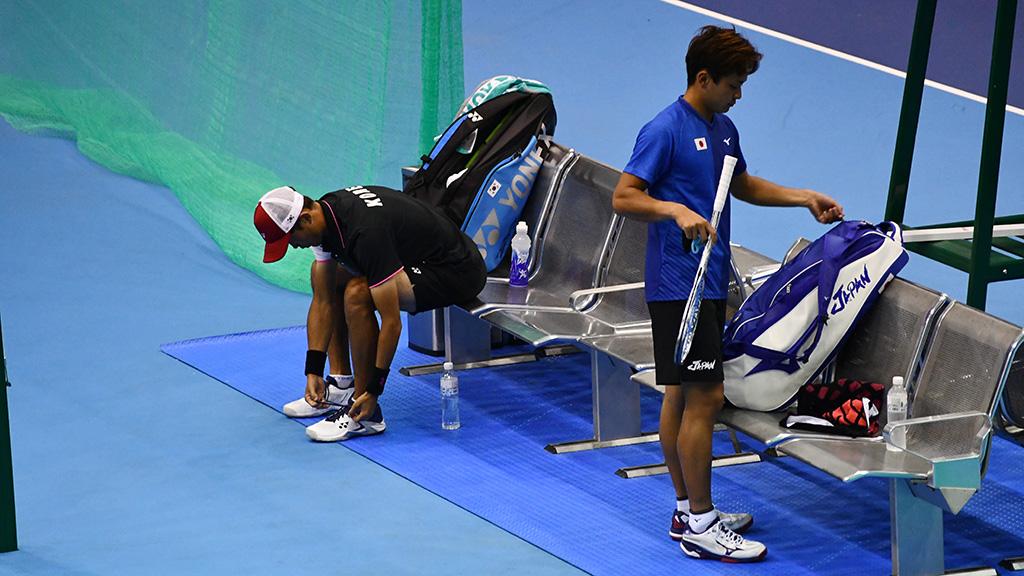 船水颯人,キム・ジヌン,ソフトテニス世界選手権シングルス