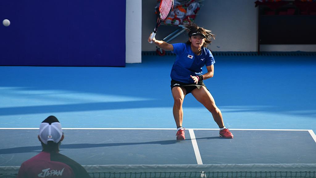 半谷美咲,ソフトテニス日本代表,世界選手権ダブルス銀メダル