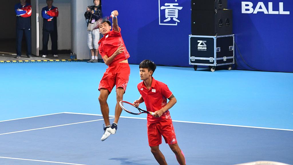 ソフトテニス台湾(中華台北)代表,余凱文(ユー・カイウェン),林韋傑(リン・ウェイジェ)
