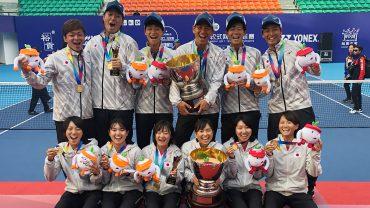 2019ソフトテニス世界選手権,ソフトテニス日本代表,国別対抗団体戦金メダル