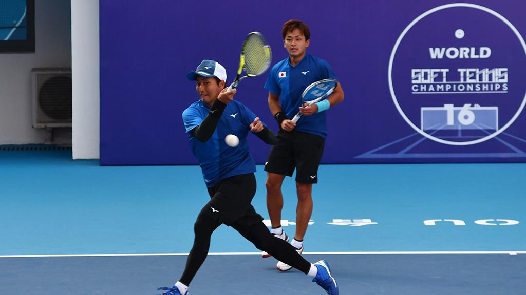 船水颯人・中本圭哉,2019ソフトテニス世界選手権,国別対抗団体戦(日本-タイ戦)