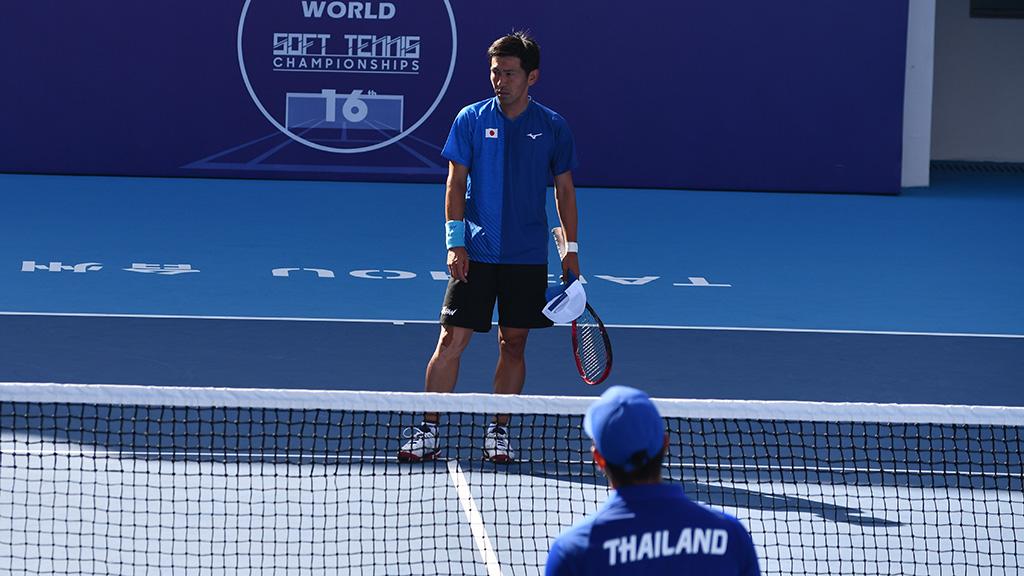 長江光一,2019ソフトテニス世界選手権,国別対抗団体戦(日本-タイ戦)