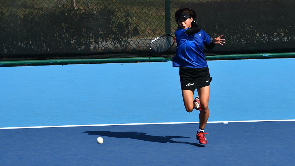 尾上胡桃,2019ソフトテニス世界選手権,国別対抗団体戦(日本-中国戦)
