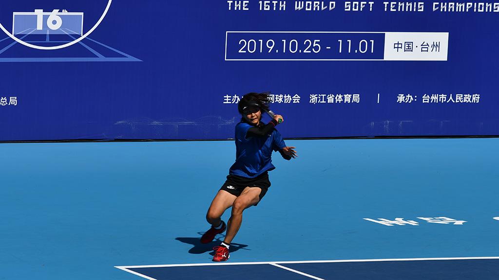 尾上胡桃,2019ソフトテニス世界選手権,国別対抗団体戦(日本-韓国戦)