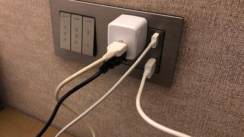 中国ホテル,電源,コンセント