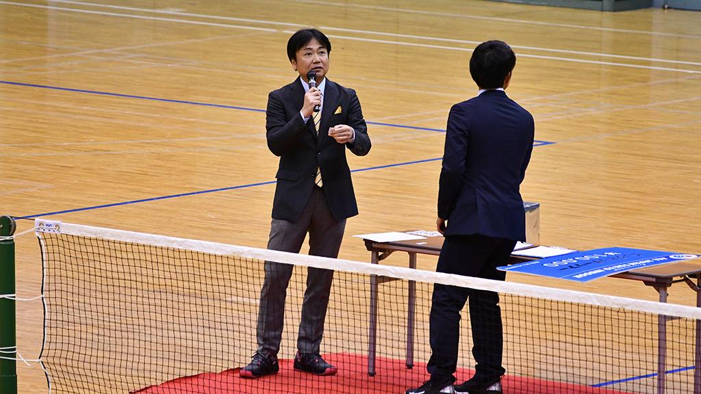 令和元年度(2020)ルーセントカップ 東京インドア全日本ソフトテニス大会,プレゼント抽選会, 藤井恒久