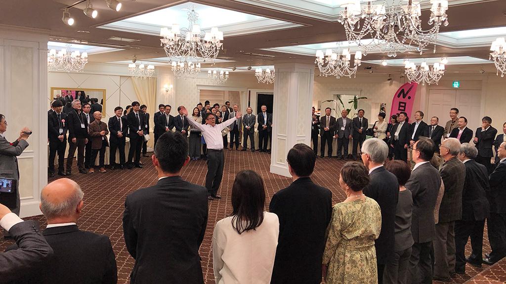 日本大学法学部ソフトテニスクラブ,日法軟庭50周年,日本大学校歌