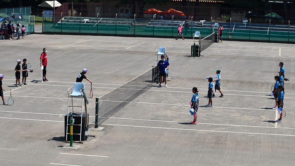 田村テニスコート,ソーシャルディスタンス,新型コロナ対策