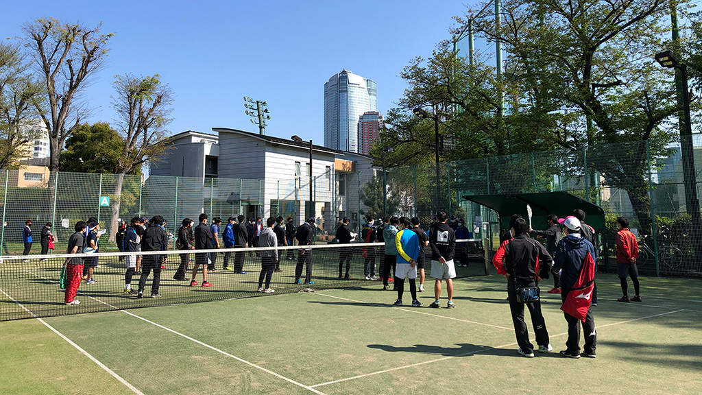 港区春季ソフトテニス大会,麻布テニスコート