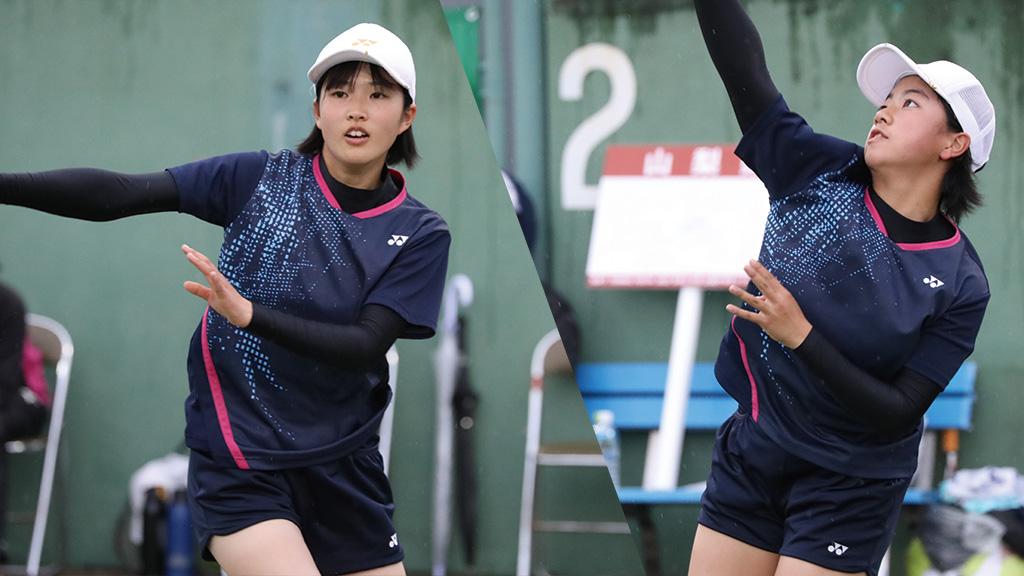 全国中学生ソフトテニス対抗戦,山梨県ソフトテニス代表,河西穂果・角田悠乃