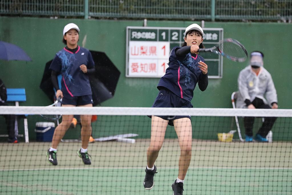 ソフトテニスフェスタ2021,山梨県ソフトテニス代表,河西・角田ペア