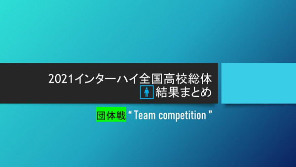 2021石川インターハイ,ソフトテニス男子団体戦結果