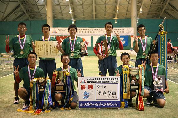 2021インターハイソフトテニス競技,男子団体戦優勝,尽誠学園高校