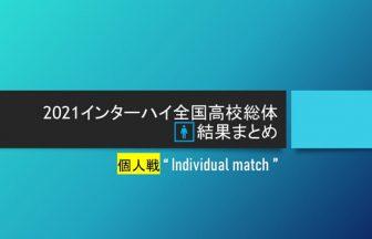 2021石川インターハイ,ソフトテニス男子個人戦結果